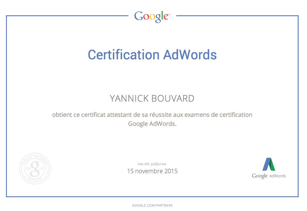 Etre certifié Google Adwords, Analytics et Adwords vidéos